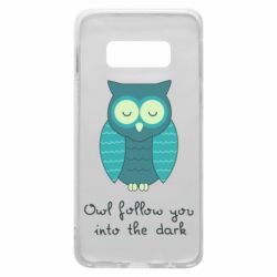 Чехол для Samsung S10e Owl follow you into the dark