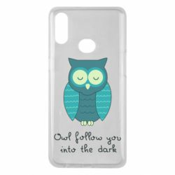 Чехол для Samsung A10s Owl follow you into the dark