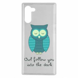 Чехол для Samsung Note 10 Owl follow you into the dark