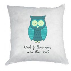 Подушка Owl follow you into the dark