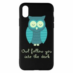 Чехол для iPhone X/Xs Owl follow you into the dark