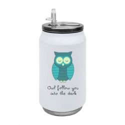 Термобанка 350ml Owl follow you into the dark