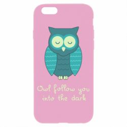 Чехол для iPhone 6/6S Owl follow you into the dark