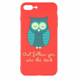 Чехол для iPhone 7 Plus Owl follow you into the dark