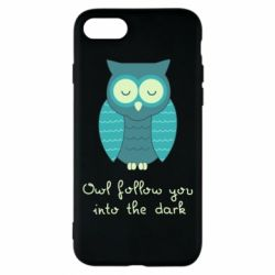 Чехол для iPhone 8 Owl follow you into the dark