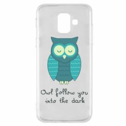 Чехол для Samsung A6 2018 Owl follow you into the dark