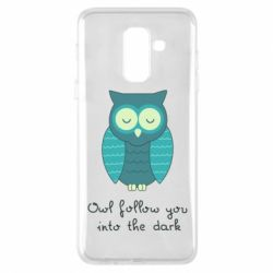Чехол для Samsung A6+ 2018 Owl follow you into the dark