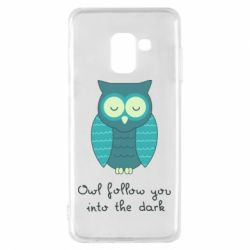 Чехол для Samsung A8 2018 Owl follow you into the dark