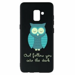Чехол для Samsung A8+ 2018 Owl follow you into the dark