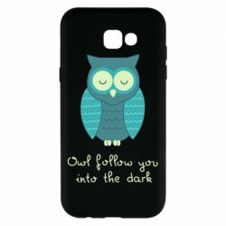 Чехол для Samsung A7 2017 Owl follow you into the dark