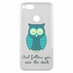 Чехол для Xiaomi Mi A1 Owl follow you into the dark