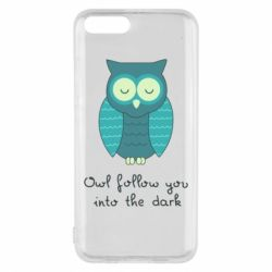 Чехол для Xiaomi Mi6 Owl follow you into the dark