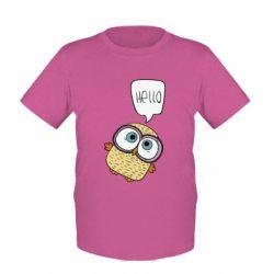 Детская футболка Owl hello