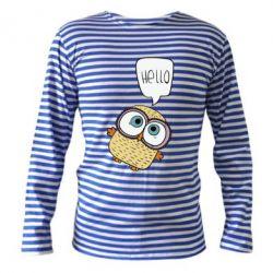 Тельняшка с длинным рукавом Owl hello