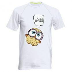 Мужская спортивная футболка Owl hello