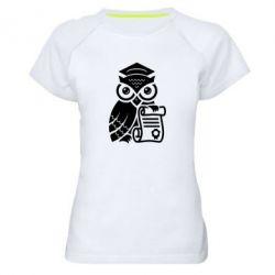 Купить Женская спортивная футболка Owl Lawyer, FatLine