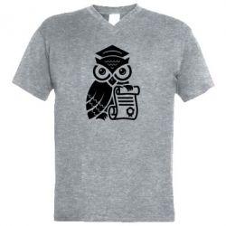 Купить Юристам, Мужская футболка с V-образным вырезом Owl Lawyer, FatLine
