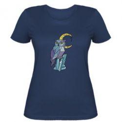 Женская футболка Owl Polygon Art