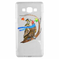 Чехол для Samsung A5 2015 Owl with a watercolor scarf