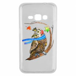 Чехол для Samsung J1 2016 Owl with a watercolor scarf