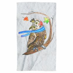 Полотенце Owl with a watercolor scarf