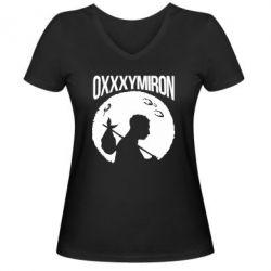 Женская футболка с V-образным вырезом Oxxxymiron Долгий путь домой - FatLine