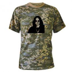 Камуфляжная футболка Ozzy Osbourne face - FatLine