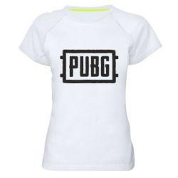 Купить Женская спортивная футболка ПАБГ, FatLine