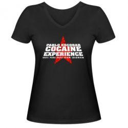 Женская футболка с V-образным вырезом Pablo Escobar - FatLine