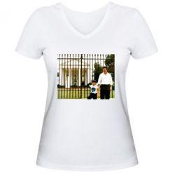 Жіноча футболка з V-подібним вирізом Пабло Ескобар