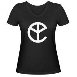 Женская футболка с V-образным вырезом Pacific Trap - FatLine