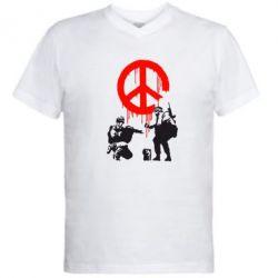 Мужская футболка  с V-образным вырезом Pacific - FatLine