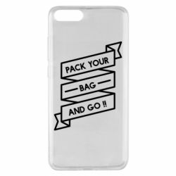 Чехол для Xiaomi Mi Note 3 Pack your bag and go