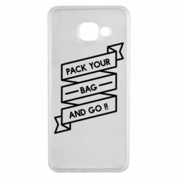 Чехол для Samsung A3 2016 Pack your bag and go