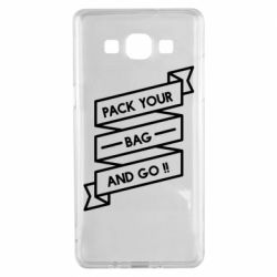 Чехол для Samsung A5 2015 Pack your bag and go