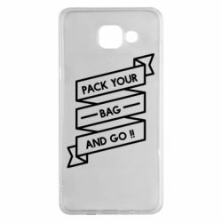 Чехол для Samsung A5 2016 Pack your bag and go