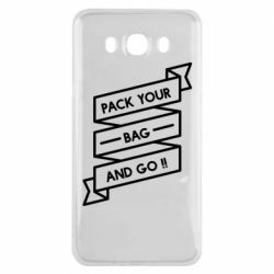 Чехол для Samsung J7 2016 Pack your bag and go
