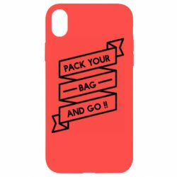 Чехол для iPhone XR Pack your bag and go