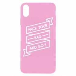 Чехол для iPhone Xs Max Pack your bag and go