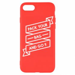 Чехол для iPhone 7 Pack your bag and go