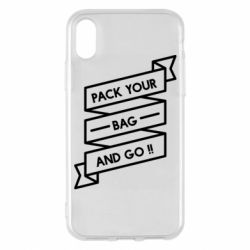Чехол для iPhone X/Xs Pack your bag and go