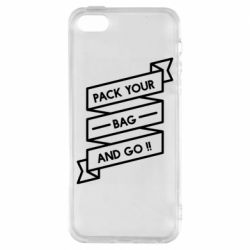 Чехол для iPhone5/5S/SE Pack your bag and go