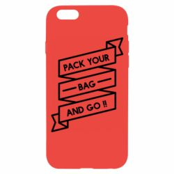 Чехол для iPhone 6/6S Pack your bag and go