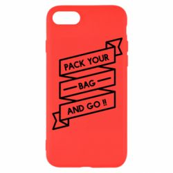 Чехол для iPhone 8 Pack your bag and go