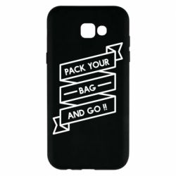 Чехол для Samsung A7 2017 Pack your bag and go