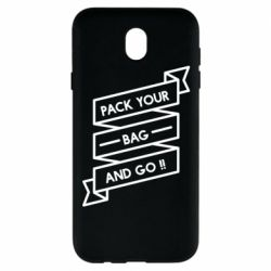 Чехол для Samsung J7 2017 Pack your bag and go
