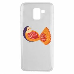 Чохол для Samsung J6 Painted with patterns Bird