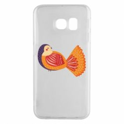Чохол для Samsung S6 EDGE Painted with patterns Bird