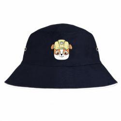 Панама Dog in helmet