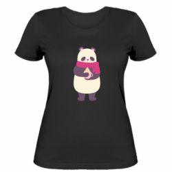 Женская футболка Panda and Cappuccino